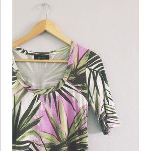 Palm & Lilac Dress